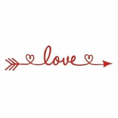 PINkart-USA Online Shopping red / 30x130cm Design Love Arrow Removable Vinyl Wall Stickers Wall Art Decal Kids' Room Wallpaper Above Bed Mural