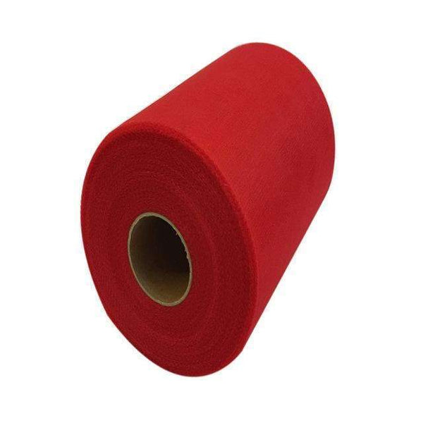 PinKart-USA Online Shopping RED 60 Color Pick Wedding Tulle Roll Spool Fabric 6Inch*100Yards Baby Grils Skirt Tutu Tulle Roll Gift