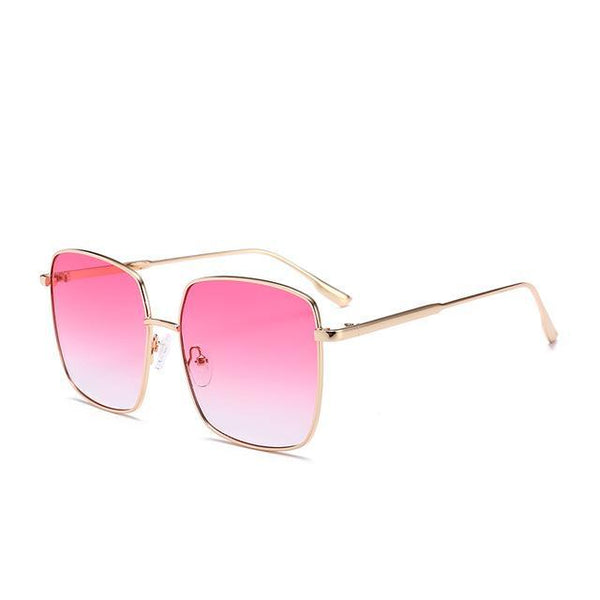 PINkart-USA Online Shopping Red Brand Designer Celebrity Metal Men Oversized Sunglasses Fashion Luxury Square Sunglasses Women