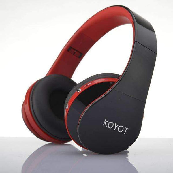 PinKart-USA Online Shopping Red / China Koyot Bluetooth Headset Wireless Headphones Stereo Foldable Sport Earphone Microphone Headset