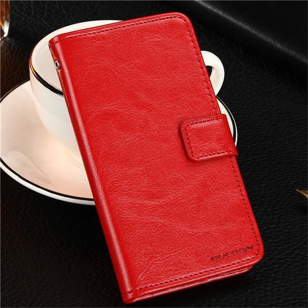 PinKart-USA Online Shopping Red Gucoon Vintage Wallet Case For Zopo Speed 7 Plus Zp952 5.2Inch Pu Leather Retro Flip Cover