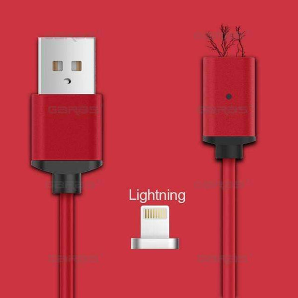 PinKart-USA Online Shopping red ios / 1m Usb Type C/Ios/Android 3In1 Magnetic Cable Type-C Usb-C Fast Charge Adapter Magnet Cable For