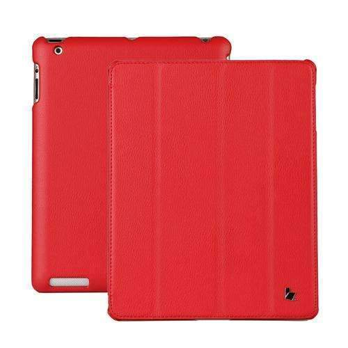 PinKart-USA Online Shopping Red Jisoncase Brand Case For Ipad 2 3 4 Leather Case Pu Protective Smart Cover Case For Ipad 2 3 4