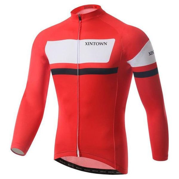 PINkart-USA Online Shopping Red / L Autumn Men'S Pro Racing Cycling Jersey Long Sleeve Bicycle Cycling Clothing Sport Mtb Bike Jersey