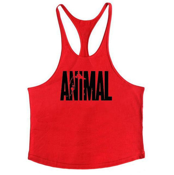 PINkart-USA Online Shopping Red / L Brand Fitness Animal Gyms Tank Top Men Clothing Bodybuilding Stringer Men Sportwear Shirt Muscle