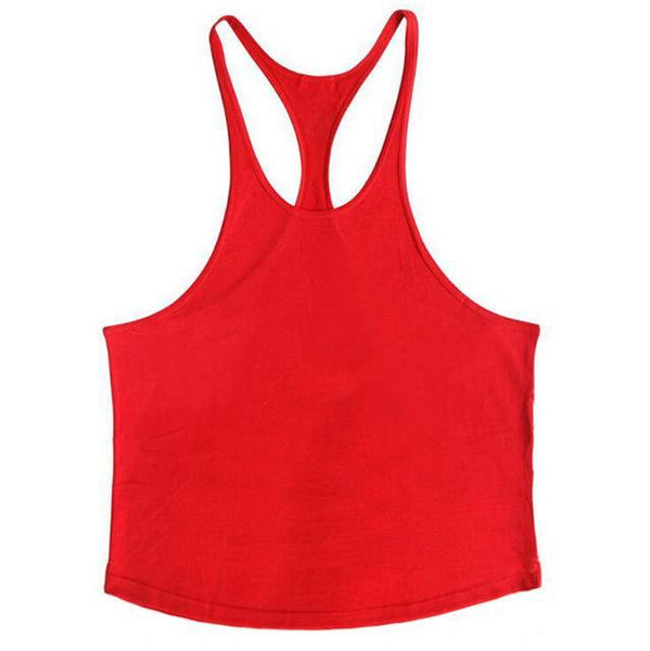 PINkart-USA Online Shopping Red / L Brand Solid Clothing Bodybuilding Tank Top Mens Sleeveless Shirts Fitness Men Singlets Blank