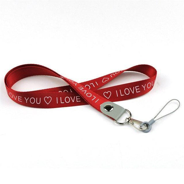 PINkart-USA Online Shopping red Love Neck Strap For Keys Id Card Mobile Phone Straps For Xiaomi Samsung Huawei Iphone Usb Badge