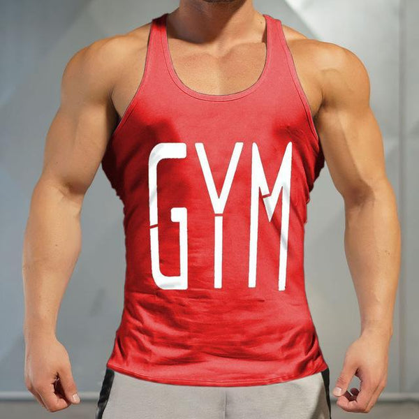 PINkart-USA Online Shopping Red / M Brand Gyms Tank Top Mens Sleeveless T Shirts Summer Cotton Slim Fit Men Clothing Bodybuilding