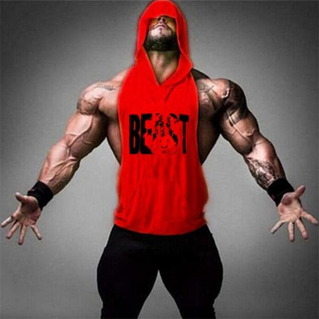 89b126f8d59d34 ... PINkart-USA Online Shopping Red   M Gyms Clothing Bodybuilding Stringer  Hoodie Tank Top Muscle ...