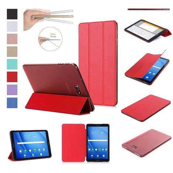 PinKart-USA Online Shopping Red Original Case For Samsung Galaxy Tab A A6 10.1 T585 T580 Sm-T580 T580N Smart Case Cover Pu