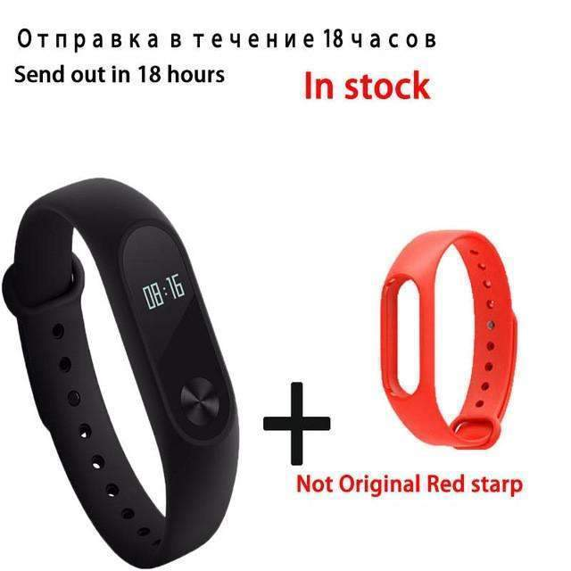 PinKart-USA Online Shopping red Original Xiaomi Mi Band 2 Smart Bracelet Wristband Tracker Fitness Mi Band Oled Touchpad Sleep