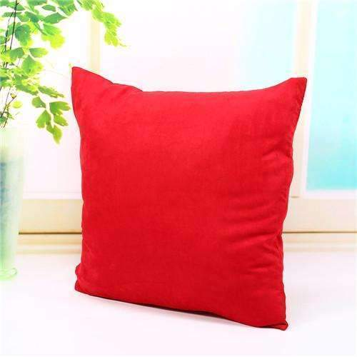 PinKart-USA Online Shopping red Pillow Case Solid Suede Nap Cushion Decorative Pillowcase Valentine'S Day Gift Body Pillow Cases