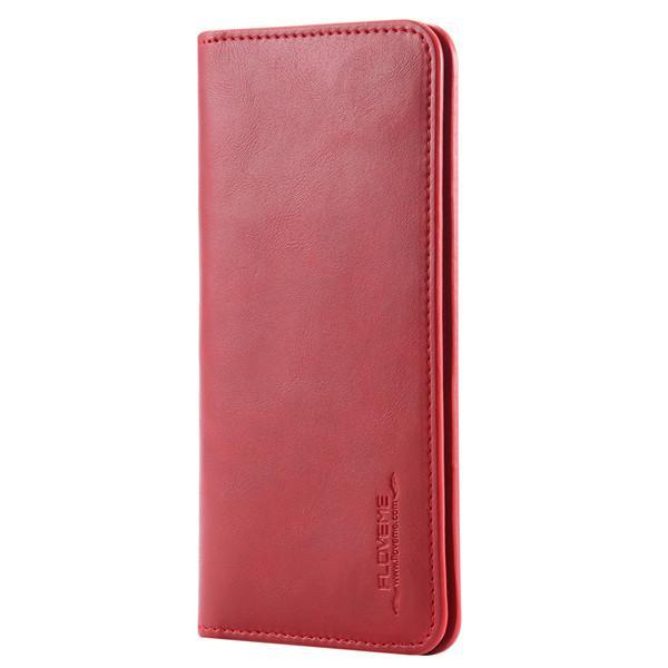 PinKart-USA Online Shopping Red Pu Leather Wallet Purse Universal Case For Iphone 7 6 6S Plus 8 8S With Card Slot Full Protective