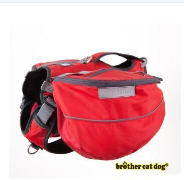PINkart-USA Online Shopping Red / S Large Pet Dog Saddle Bag Pack Backpack Medium Big Harness Animal Bag For Outdoor Hiking Camping