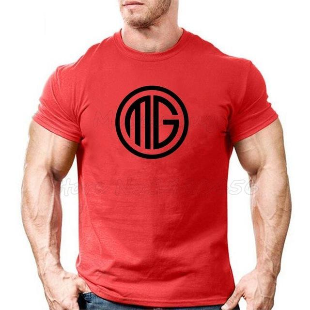 Muscle Guys Brand Clothing Fitness T Shirt Men Cotton O-Neck T-Shirt Muscle Bodybuilding Tees