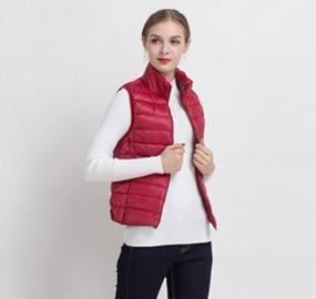 PINkart-USA Online Shopping Red / S Women Vs Winter Ultra Light White Duck Down V Female Slim Sleeveless Jacket Women'S Windproof
