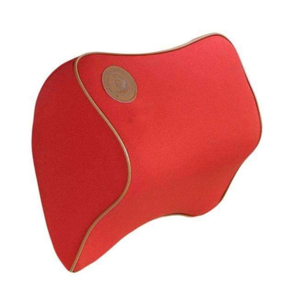 PinKart-USA Online Shopping Red Space Cotton Memory Car Seat Pillow Cushion Car Comfort Head Rest Pad Auto Supplies Neck