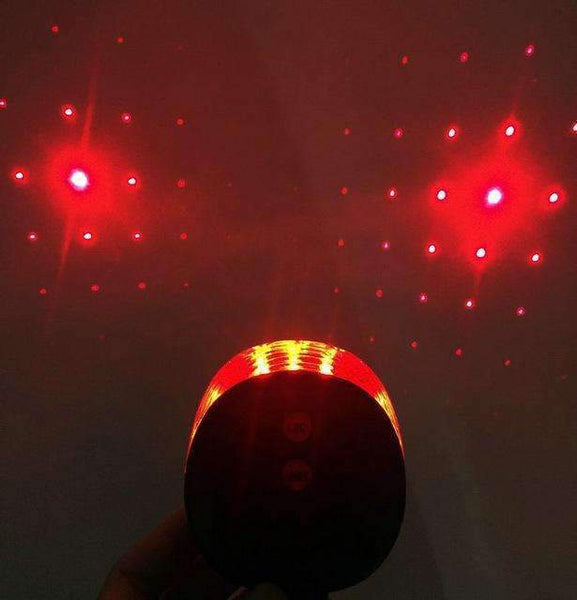 PinKart-USA Online Shopping red star sky 5 Led Laser Beam Mtb Mountain Bicycle Bike Rear Tail Warning Lamp Light