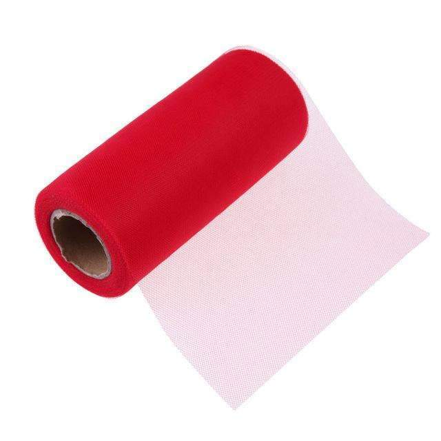 PinKart-USA Online Shopping Red Tissue Tulle Roll 15Cm 26Yards Spool Tutu Gift Wrap Wedding Decoration Birthday Party Baby Shower