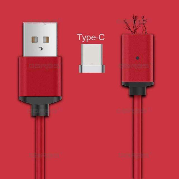 PinKart-USA Online Shopping red type C / 1m Usb Type C/Ios/Android 3In1 Magnetic Cable Type-C Usb-C Fast Charge Adapter Magnet Cable For