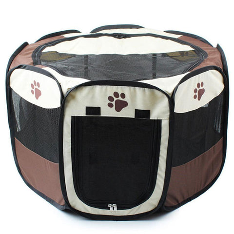 PINkart-USA Online Shopping Red with Black / 74X74X43cm 3 Colors Portable Pet Dog House Cage Folding Dog Cat Outdoor Tent Bed Comfortable Breathable Big