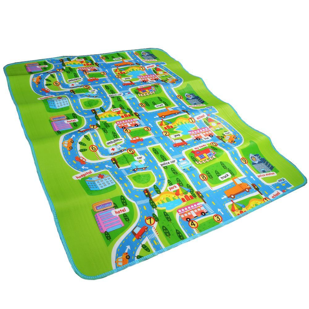 PINkart-USA Online Shopping Road Traffic Play Mat -Kids Carpet Playmat Rug City Life Great For Playing With Cars And Toys -