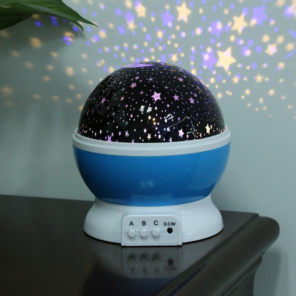 Room Novelty Night Light Projector Lamp Rotary Flashing Starry Star Moon Sky Star Projector Lamp