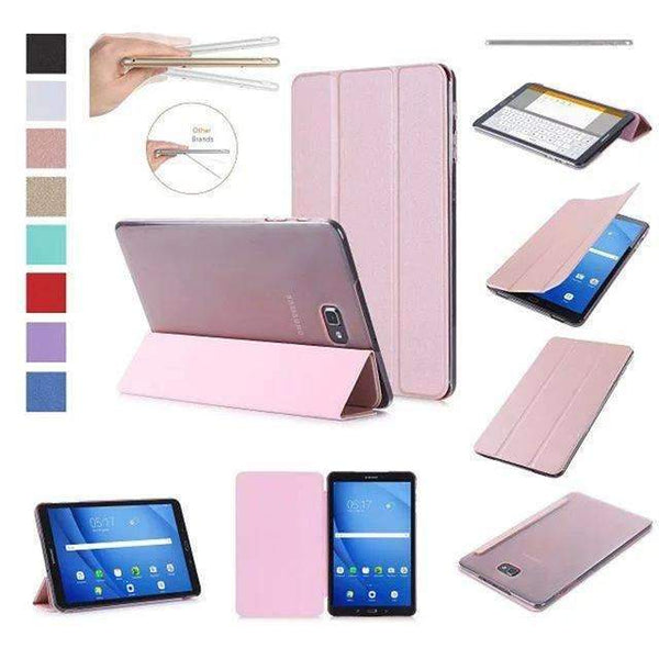 PinKart-USA Online Shopping rose gold Original Case For Samsung Galaxy Tab A A6 10.1 T585 T580 Sm-T580 T580N Smart Case Cover Pu