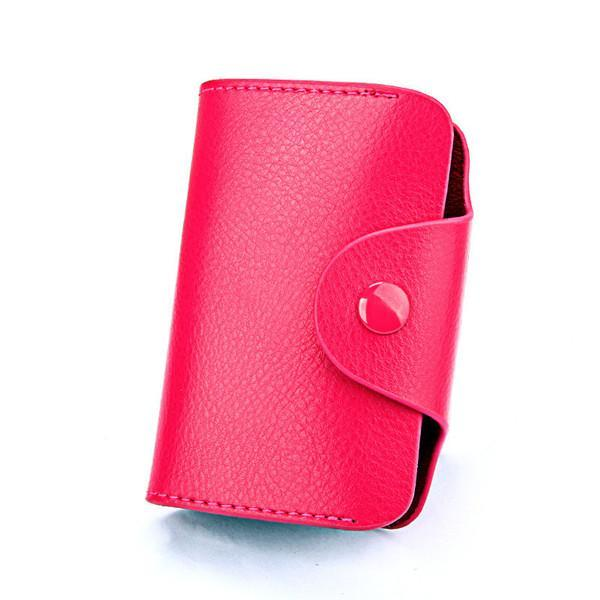 PINkart-USA Online Shopping Rose Red Hot Men Wallets Genuine Leather 15 Card Holder Wallet Male Clutch Pillow Designer Small Wallet