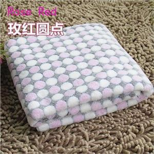 PINkart-USA Online Shopping Rose Red / S Soft Flannel Pet Dog Blanket Dots Printed Breathable Dog Cat Bed Mat Warm Pet Sleeping Cushion