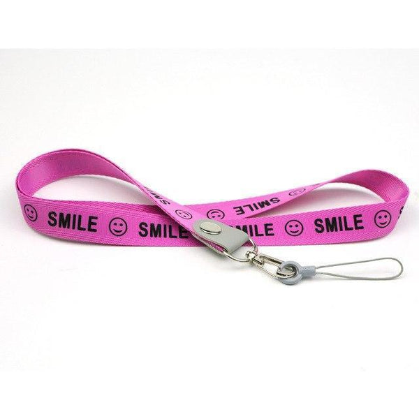 PINkart-USA Online Shopping Rose Red Smile Phone Neck Strap For Keys Id Card For Samsung S6 S7 Edge Iphone 4 5 5S Huawei Usb Badge