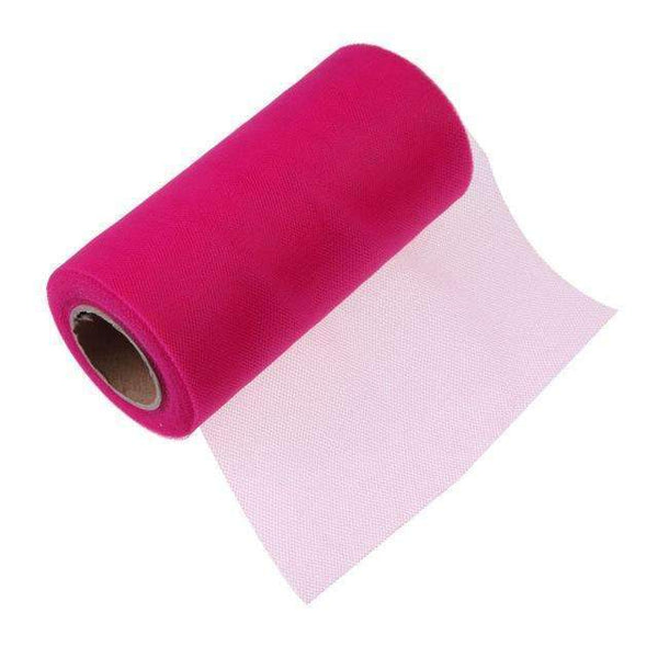 PinKart-USA Online Shopping Rose red Tissue Tulle Roll 15Cm 26Yards Spool Tutu Gift Wrap Wedding Decoration Birthday Party Baby Shower