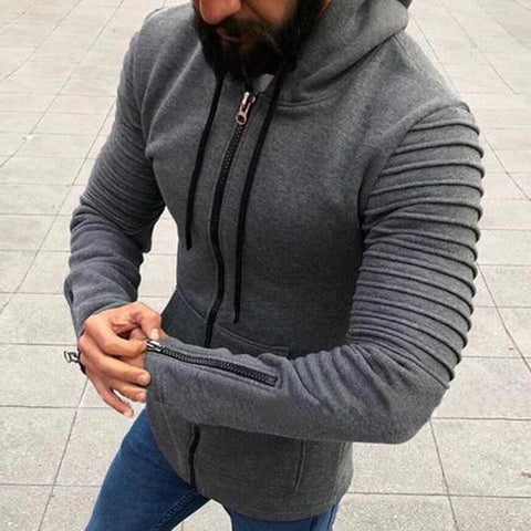 PINkart-USA Online Shopping S-5Xl Plus Size Mens Zipper Hoodie Male Cardigan Long Sleeve Hoodies Sweatshirt Casual Hooded