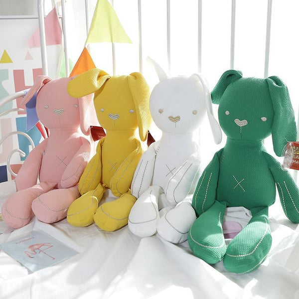 PINkart-USA Online Shopping Sales Baby Bear Rabbit Toys 8 Styles Colorful Cute Gift Soft Infant Sleeping Toys 0-5Years Kids