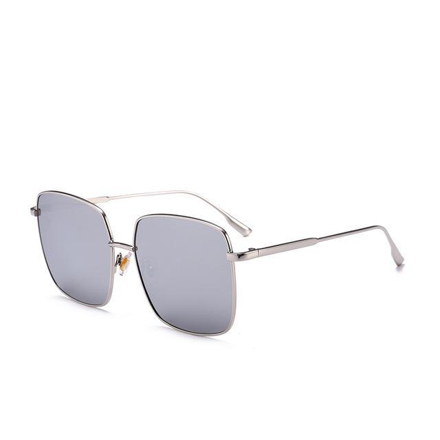 PINkart-USA Online Shopping Silver Brand Designer Celebrity Metal Men Oversized Sunglasses Fashion Luxury Square Sunglasses Women