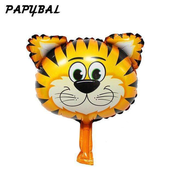 PinKart-USA Online Shopping Silver / Mnini Size 50Pcs Safari Animal Balloons Birthday Party Decoration Lion & Monkey & Zebra & Cow Head Safari Zoo