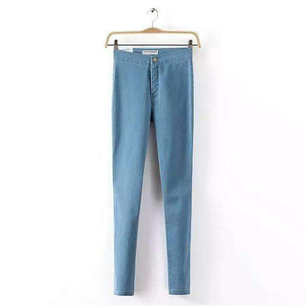 PinKart-USA Online Shopping Sky Blue / XS / China White Jeans Female Elastic Jeans