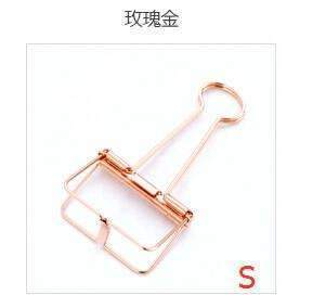 PinKart-USA Online Shopping Small Size 2 Novelty Solid Color Hollow Out Metal Binder Clips Notes Letter Paper Clip Office Supplies Fod