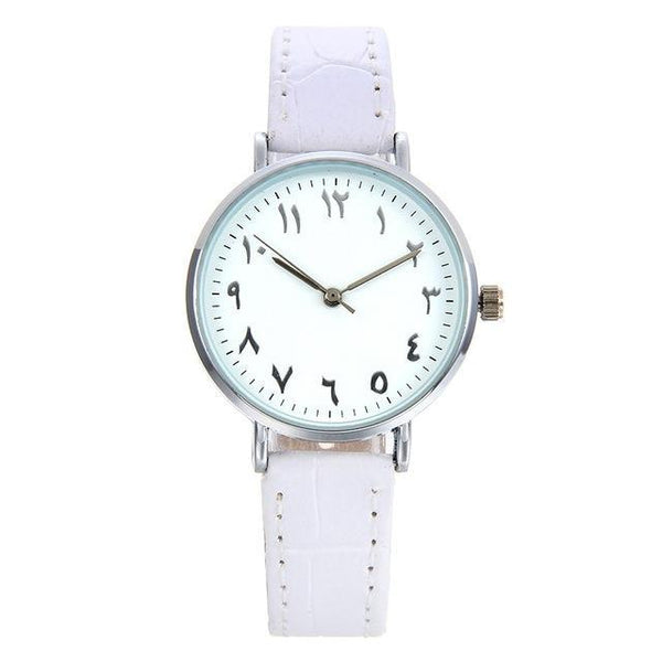 PINkart-USA Online Shopping Small white / China Fashion Arabic Numbers Design Women Watches Bgg Top Luxury Brand Leather Female Watch Lover Clock