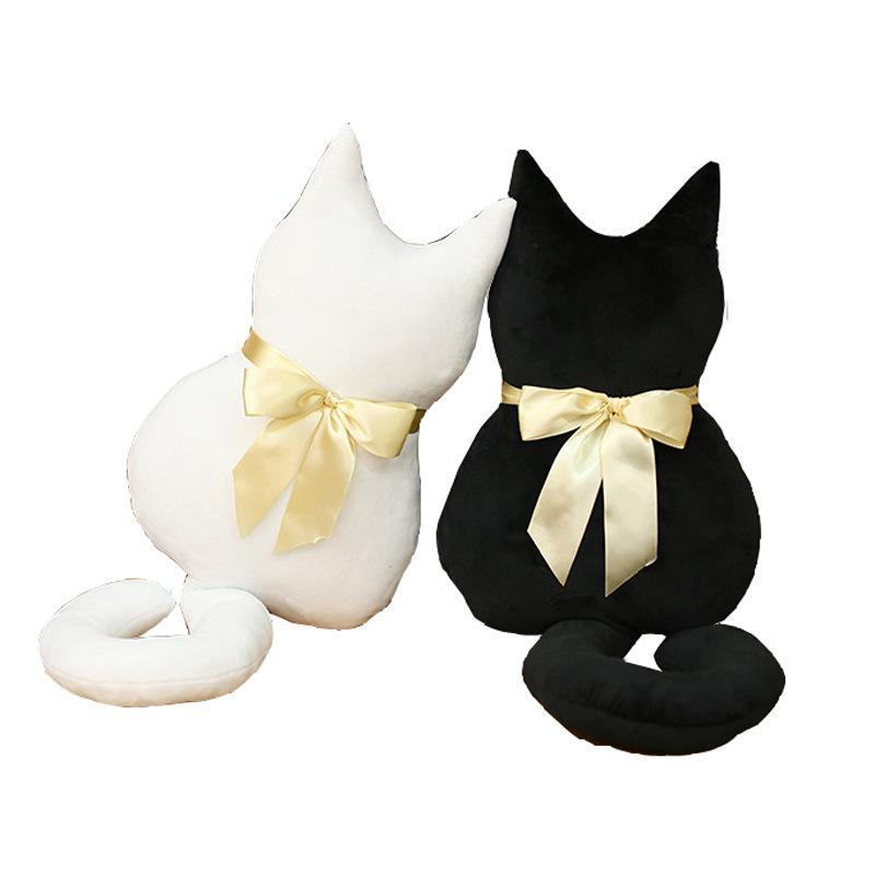 PINkart-USA Online Shopping Soft Cat Back Stuffed Cushion Pillow Back Of Car Plush Sofa Decorative Throw Pillow Doll Toy