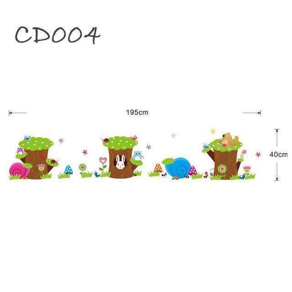 PinKart-USA Online Shopping Stakes Cd003 Cartoon Jungle Animals Children Height Measure Wall Stickers For Kids Room Wall Sticker Home