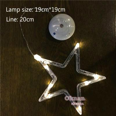 PINkart-USA Online Shopping Star / White light Led Christmas Decorative For Home Year'S Day Holiday Light Deer /Bell /Stars/Tree 6.3In*7.5In