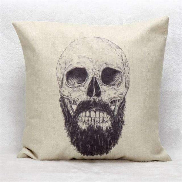 PinKart-USA Online Shopping Style 9 Skull Pillowcase Punk Skull Halloween Pillow Case Lovers Terror Crown Sugar Skull Skeleton 18X18
