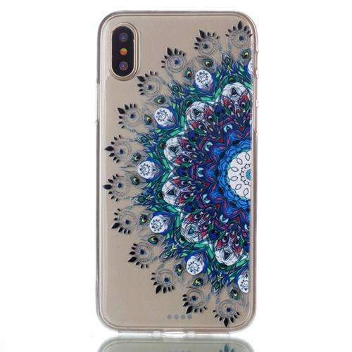 PinKart-USA Online Shopping Style4 For Iphone X Case Colorful Pattern Transparent Clear Soft Silicone Case For Apple Iphone X
