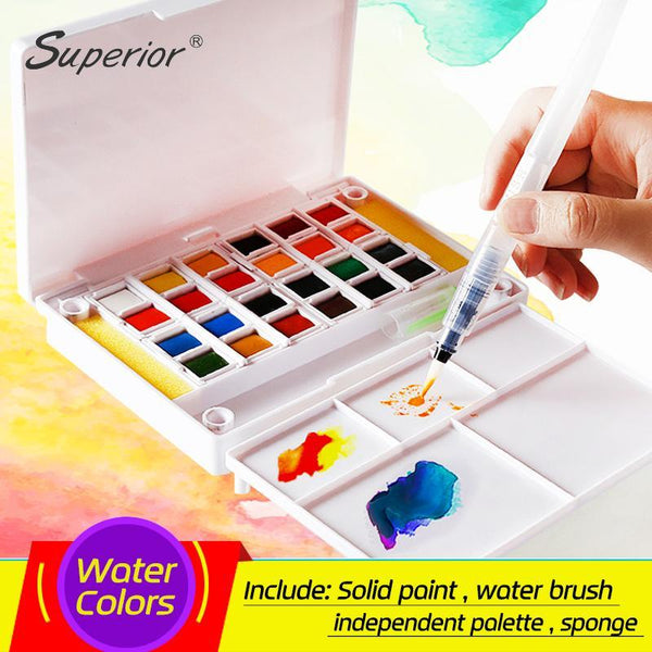 PINkart-USA Online Shopping Superior 12 24 30 36 40Colors Pigment Solid Watercolor Paints Set Colored Pencils For Drawing