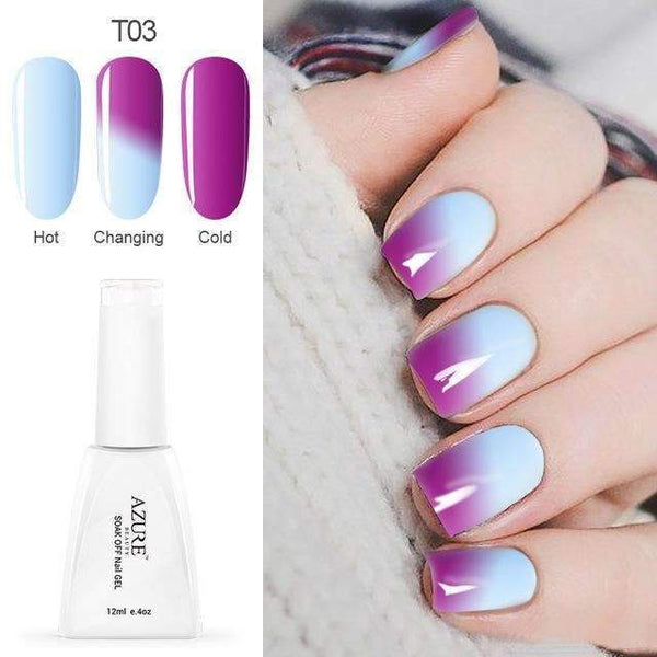 PinKart-USA Online Shopping T03 12Ml Temperature Chameleon Nail Gel Polish Thermal Color Change Uv Gel Nail Soak Off Gel