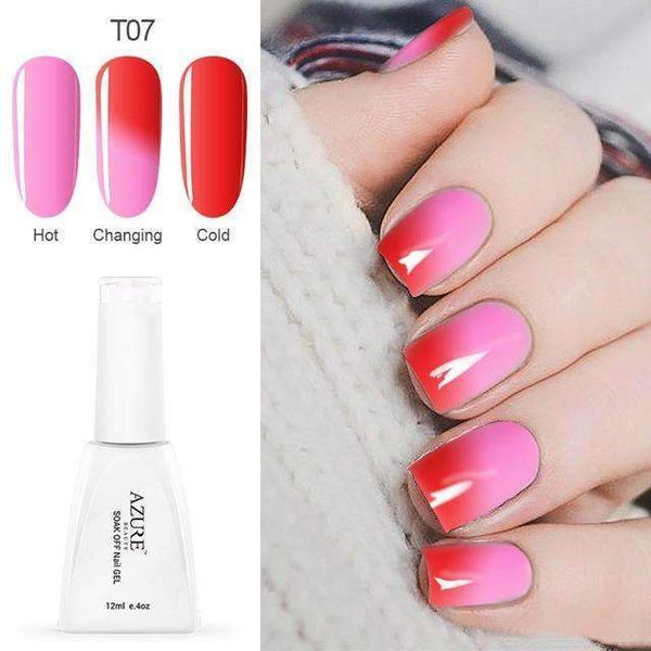 PinKart-USA Online Shopping T07 12Ml Temperature Chameleon Nail Gel Polish Thermal Color Change Uv Gel Nail Soak Off Gel