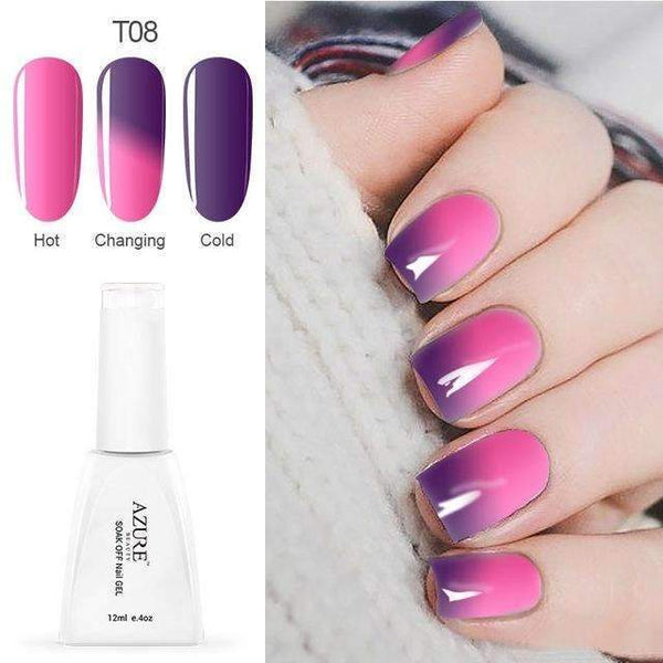 PinKart-USA Online Shopping T08 12Ml Temperature Chameleon Nail Gel Polish Thermal Color Change Uv Gel Nail Soak Off Gel