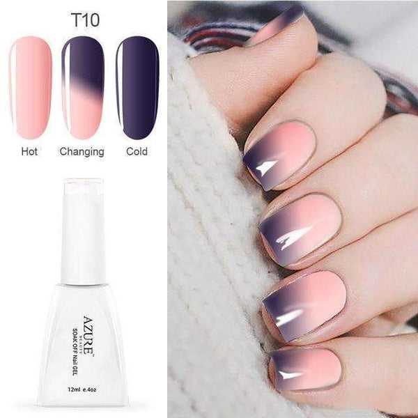PinKart-USA Online Shopping T10 12Ml Temperature Chameleon Nail Gel Polish Thermal Color Change Uv Gel Nail Soak Off Gel