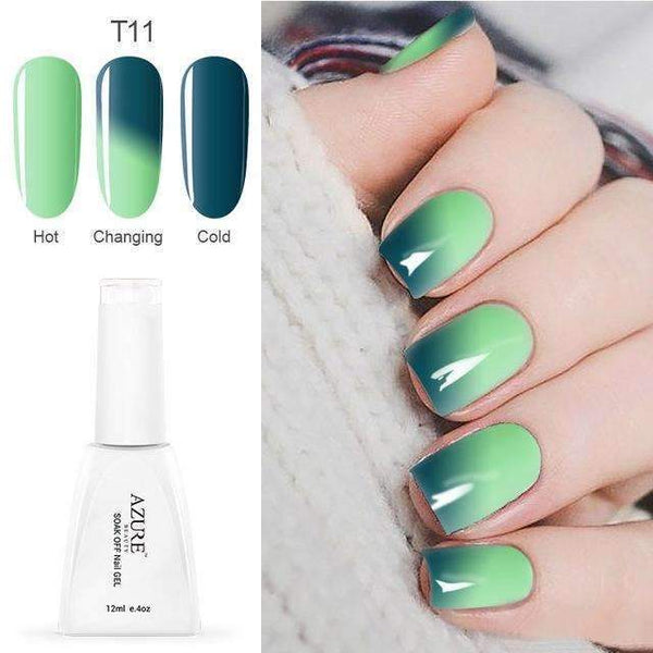 PinKart-USA Online Shopping T11 12Ml Temperature Chameleon Nail Gel Polish Thermal Color Change Uv Gel Nail Soak Off Gel